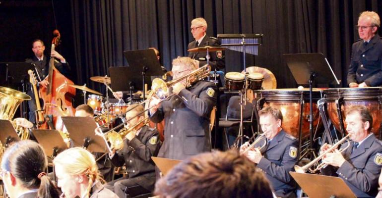 Beste Unterhaltung: Beim Jubiläumskonzert zeigte das Bundespolizeiorchester Hannover die ganze Bandbreite seines Könnens.